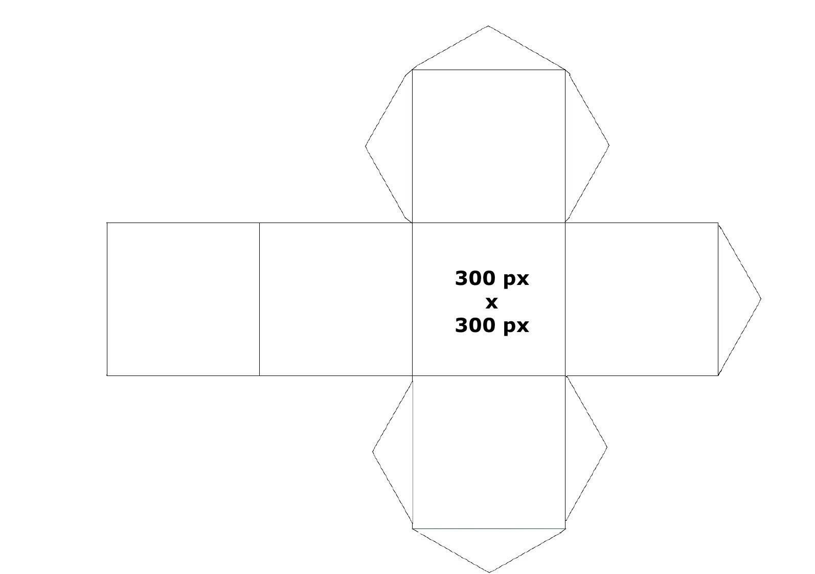La quadrature du cercle :) Cube-face-patron